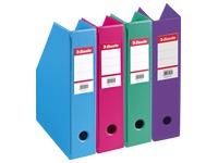Range-revues Esselte Classic-box couleurs dynamiques assorties dos 7 cm