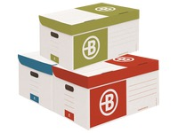 Archive boxes in cardboard Bruneau H 27 x W 55 x D 36 cm colour