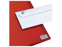 Package of 2100 address labels Avery L 7656 white 46 x 11,1 mm for laser printer