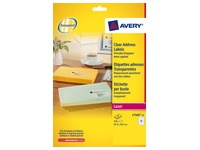 Package of 525 address labels Avery L 7560 63,5 x 38,1 mm for laser printer
