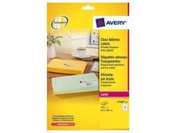 Pack 525 Adressetikette Avery L 7560 63,1 x 38,1 mm für Laserdrucker