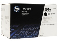 Pack 2 toners HP CE505A