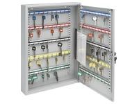 Armoire 50 clés fermeture à clé gris clair
