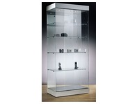 Halogen lighting top for display case, aluminium