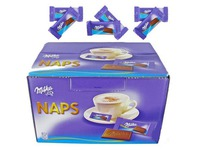 Box of 370 Naps with milk chocolate Milka bag 4,6 g
