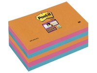 Zettel in lebendigen Farben Super Sticky Post-It 76 x 127 mm