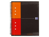 Spiral notebook Oxford 17 x 22 cm squared 5 x 5 cm 160 pages