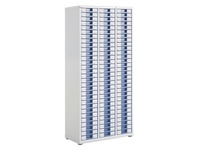 White filing cabinet Clen 3 columns 90 drawers 6 cm