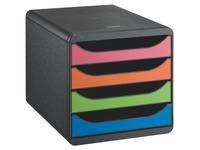 Classification box Exacompta Big Box 4 drawers black case