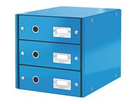 Classification module Leitz Click&Store Wow 3 drawers blue