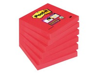 Notes one colour poppy Super Sticky Post-it 76 x 76 mm - block of 90 sheets