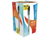 Kugelschreiber Papermate Inkjoy eindrückbar - Pack von 100 Stück, wovon 20 gratis - Schwarz