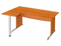 Compact desk W 160 cm left angle L undercarriage Excellens