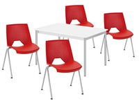 Pack gamme Klass 1 table rectangulaire + 4 chaises