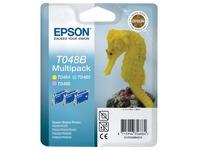 Epson T048 Multipack - lichtmagenta, lichtcyaan, lichtgeel - origineel - inktcartridge (C13T048B4010)