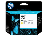 HP 72 - geel, dof zwart - printkop (C9384A)