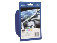 Brother LC985 Rainbow Pack - 3 - geel, cyaan, magenta - origineel - inktcartridge (LC985RBWBP)