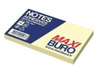 Herkleefbare notes geel Maxiburo formaat 75 x 125 mm