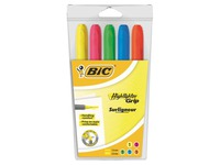 Etui van 5 Brightliner Bic markeerstiften assortiment