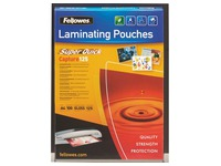 Box of 100 sleeves for lamination 2 x 125 micron glossy Fellowes SuperQuick A4