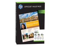 HP 951XL Officejet Value Pack - 1 - geel, cyaan, magenta - printcartridge / papierpakket (CR712AE)