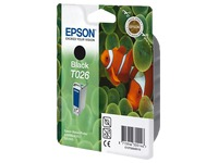 Cartridges Epson T026 zwart voor inkjet printer