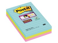 Linierte Zettel sortierte Miami Farben Super Sticky Post-it 101 x 152 mm - Block von 90 Zettel
