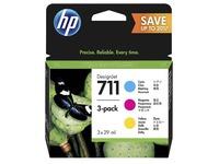 HP 711 - 3 - geel, cyaan, magenta - origineel - DesignJet - inktcartridge (P2V32A)