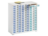 White filing cabinet Clen 3 columns 45 drawers 6 cm