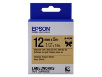 Epson tape 12 mm, zwart op goud