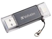 Verbatim iStore 'n' Go Dual USB Flash Drive for Lightning Devices - USB-flashstation - 32 GB (49300)