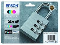 Pak met cartridges 35XL zwart en 35 kleuren Epson voor inkjetprinter