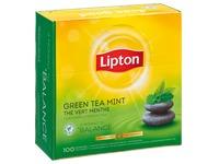 Doos 100 Lipton theebuiltjes green munt