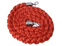 Red braided rope for guide pole