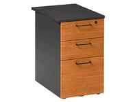 Schubladenschrank auf Schreibtischhöhe Quarta Plus 3 Schubladen Tiefe 60 cm Erle - Anthrazit