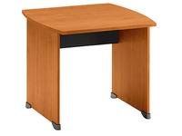 Bureaux droits Quarta Plus L 80 x P 80 cm aulne piétement plein bois
