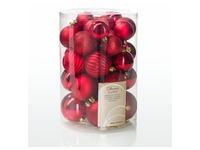 Box of 34 Christmas balls red