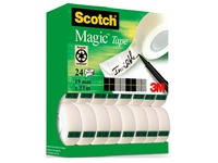 Pack 16 + 8 adhesive tape rolls invisible Scotch Magic 33 m