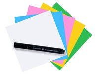 Repositionable Magic-Chart Notes 10 x 10 cm Matching Colours - 250 Pieces