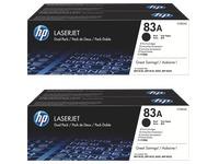 HP 83A - CF283AD - Pack van 2 toners zwart voor laserprinter