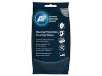 AF gehoorbescherming reinigingsdoekjes, pak van 40 doekjes
