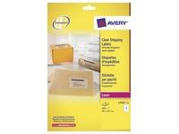 Avery L7565-25 étiquettes d'expédition ft 99,1 x 67,7 mm (b x h), 200 étiquettes, transparent
