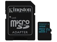 Kingston Canvas Go! - flash memory card - 32 GB - microSDHC UHS-I