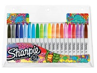 Permanent marker with cap Sharpie fine conical point  - assortment of colors - sleeve of 20