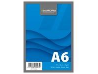 Notepad Aurora A6 105 x 148 mm plain 100 sheets