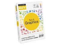 Paper A4 white 90 g Rey Text & Graphics - ream of 500 sheets