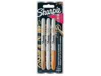 Sharpie permanente marker metallic, blister van 3 stuks
