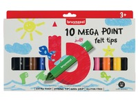 Feutre Bruynzeel Kids Mega Point blister de 10 pièces assorti