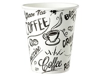 Disposable cup 'Graffiti' cardboard 18 cl - pack of 100
