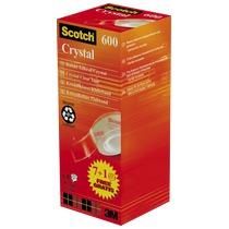 Plakband Scotch Crystal - Pak van 7 + 1 gratis